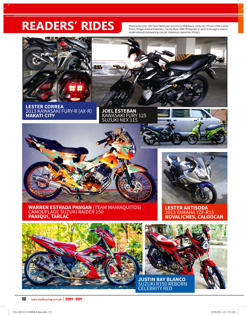 IR VOL12NO8 READERS RIDE