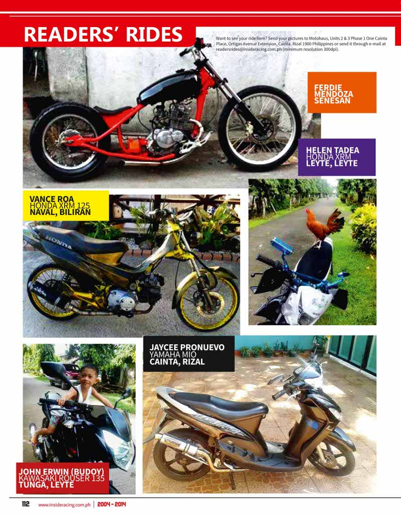 VOL12NO12 Readers Rides