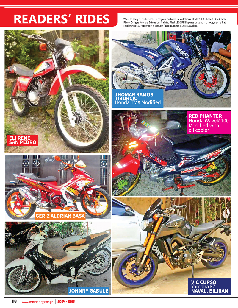 VOL13NO4 Readers Rides