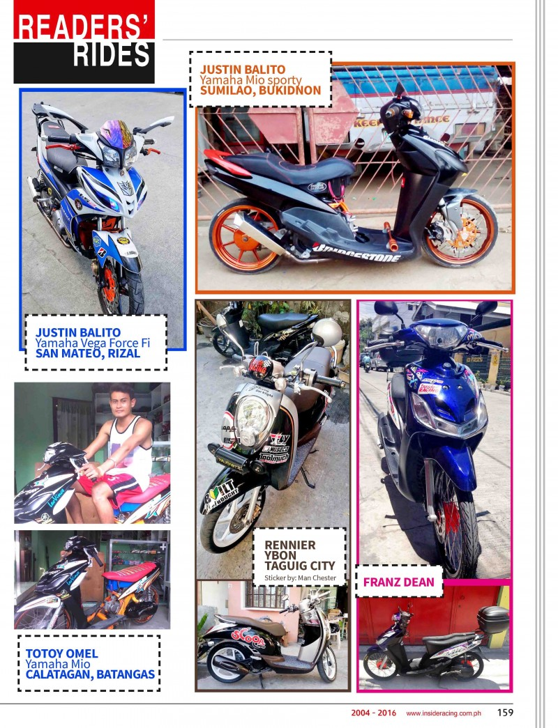 VOL14NO5 Readers Rides
