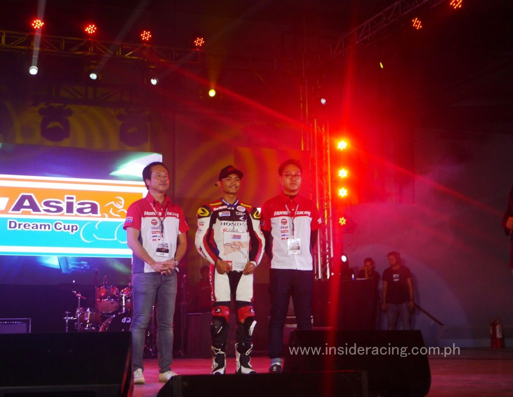 Honda Philippines introduced and acknowledged rider Koko Tadachi and his good campaign in the Honda Asia Dream Cup. Tadachi placed third in Round 4 of the series in Indonesia last August.