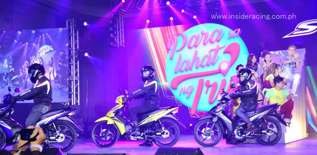 The Suzuki Shooter Fi in new Cool Dazzling Yellow, Frenetic Purple and Matte Black Edition colors