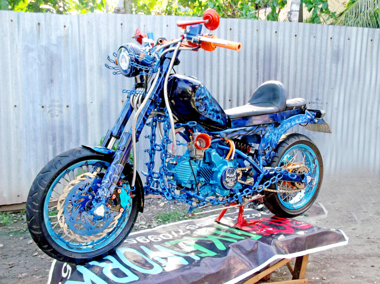 The Ghost Rider Custom Kawasaki Fury 125 Bobber By Tron Bikes