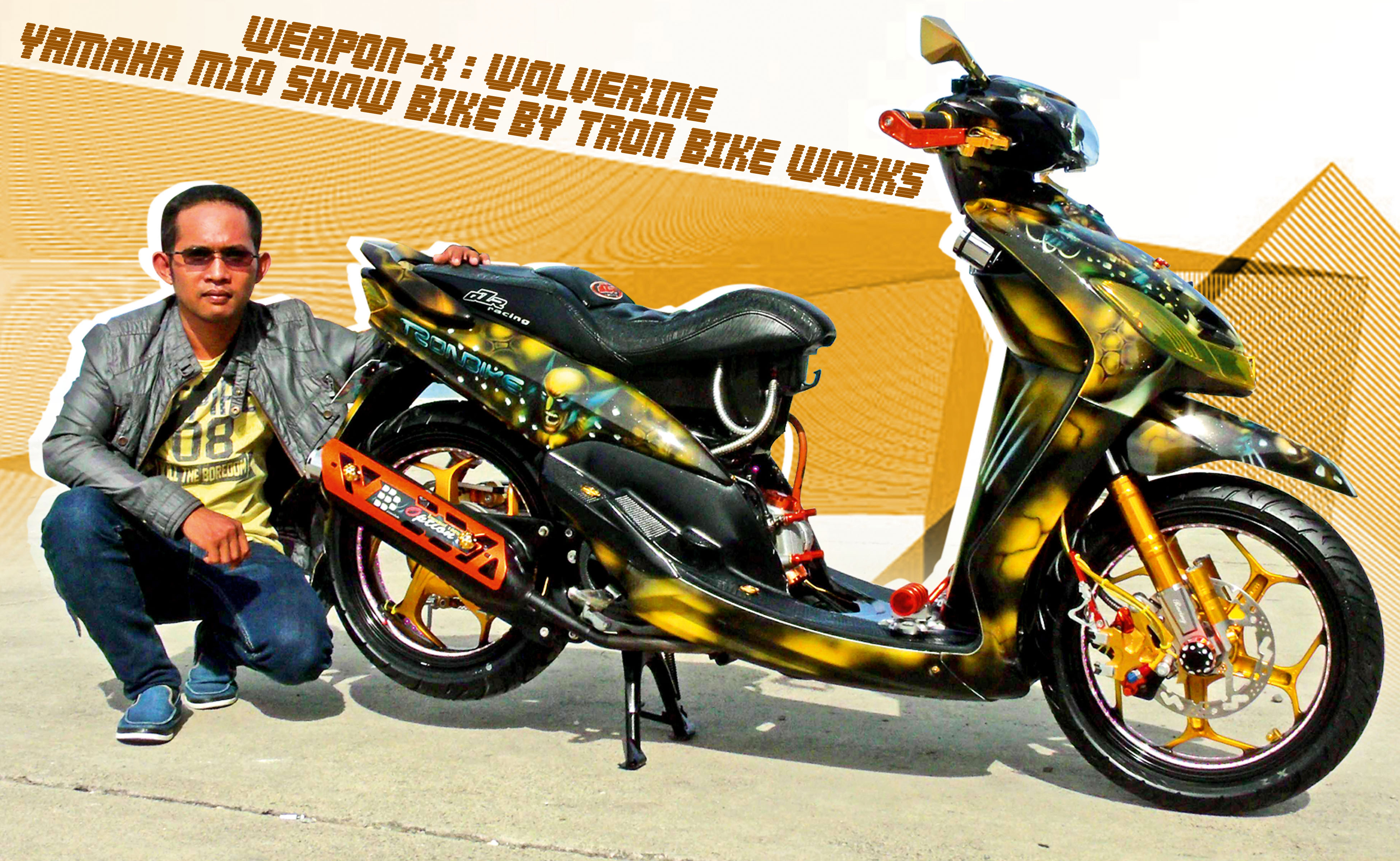 Weapon X Wolverine Yamaha Mio Show Bike By Tron Works Cover Kipas Inside Racing