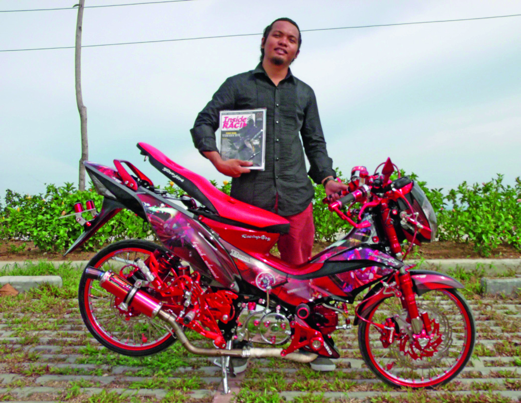 This modified honda xrm 125 inspired by one of the iconic characters from capcoms mega man zero certainly brings fun memories during your teenage years