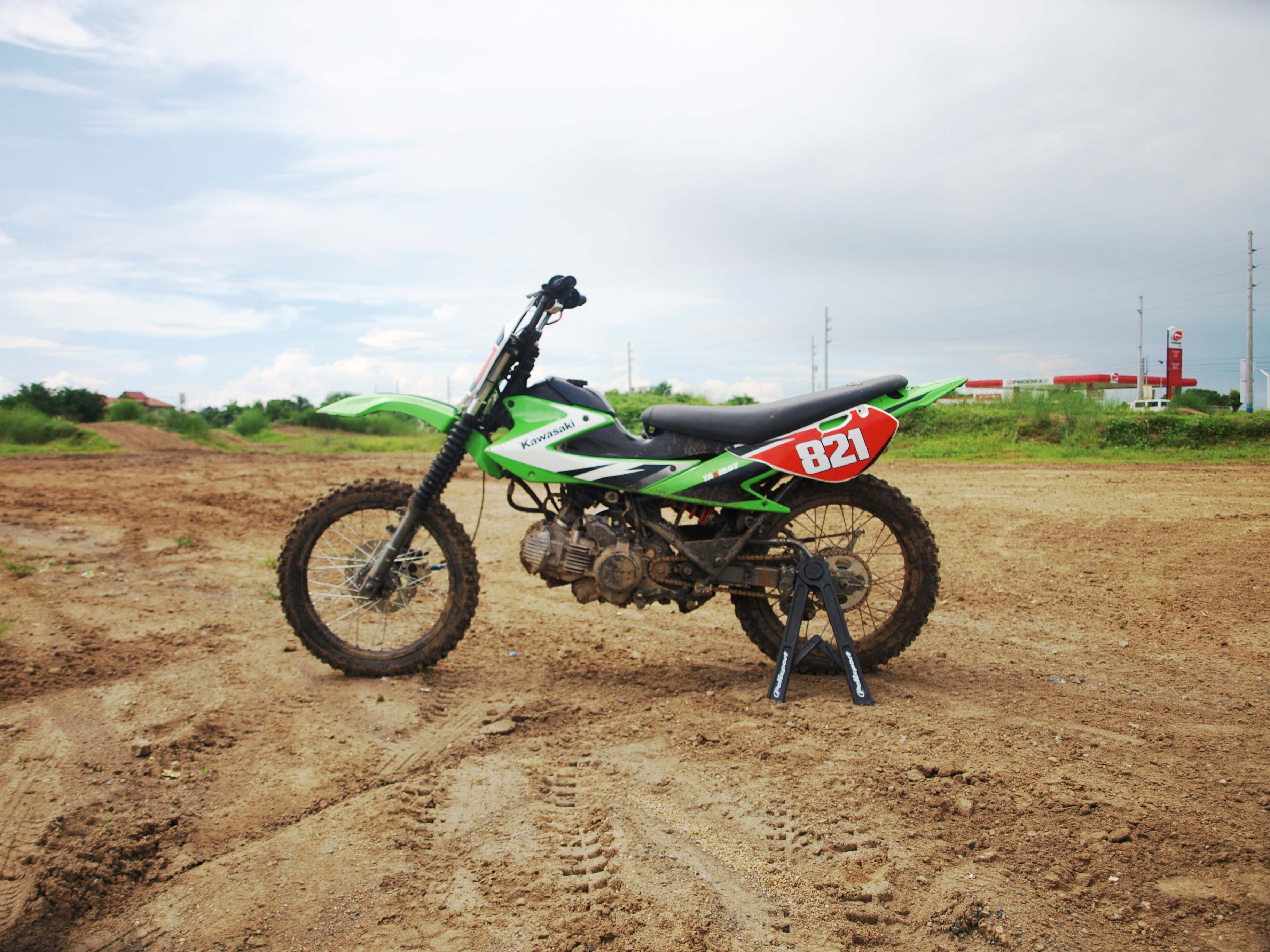 Kawasaki Fury 125 Dirt Bike Inside Racing